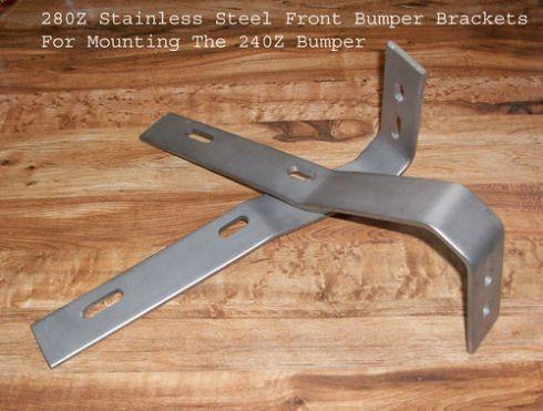 240z front bumper brackets - stainless steel