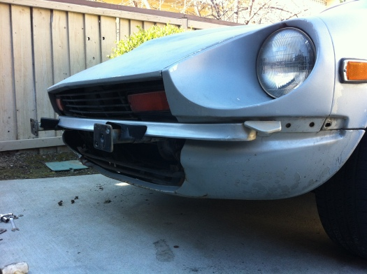 280z Front bumper removed - DailyDatsun.com