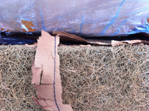 1977 280z seat - disintegrated cotton flap