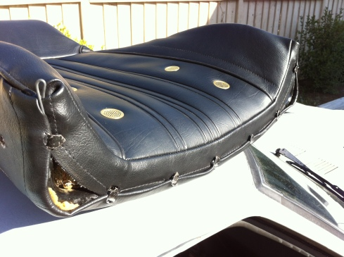 1976 280z seat cover - completed