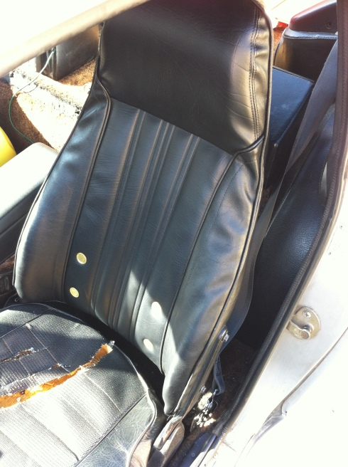 1976 280z seat cover - installed