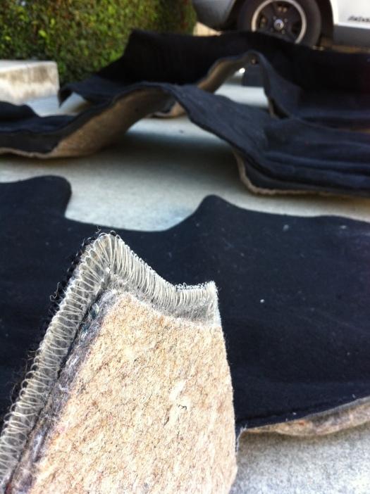MSA 280z carpet - carpet pad close up 2