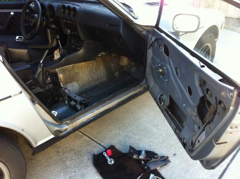280z interior - door
