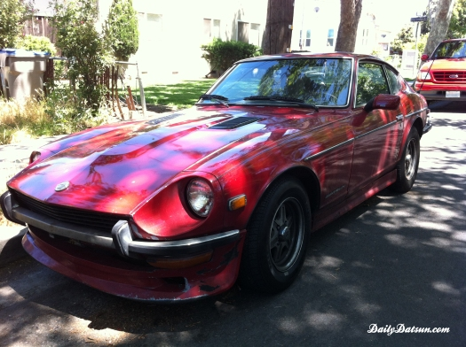 red Datsun 240z with 280z hood - front