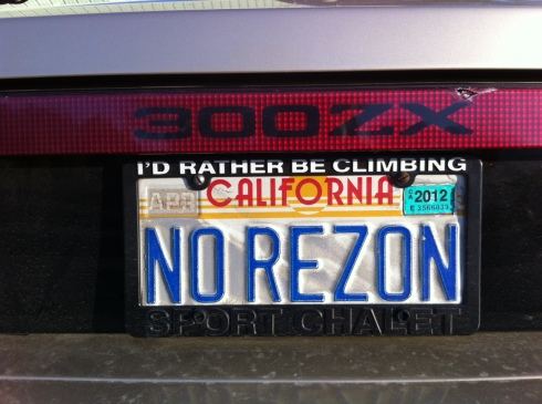 Daily Datsun Zpotted - NoRezon 300zx License Plate