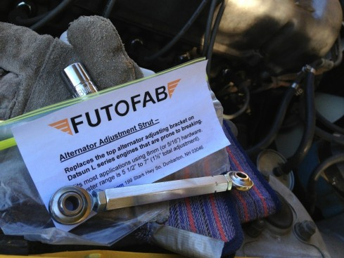 Futofab Alternator adjustment strut / bracket for Datsun - Daily Datsun