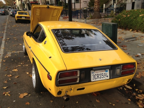 Yellow 280z rear - Daily Datsun