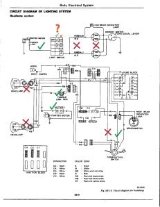 Daily Datsun 280z FSM - headlight schematic